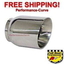 "Stainless Steel Exhaust Tip Double Wall Angle 3"" Inlet - 4"" Outlet - 5"" Long"