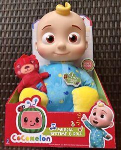 CoComelon Plush Musical Bedtime JJ Doll /& Teddy BEAR YouTube Sings SHIPS NOW!