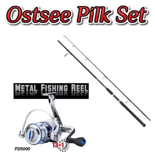 Top Ostsee Pilk Set  Rute Wurfgewicht bis 140g Metallrolle 13+1BB