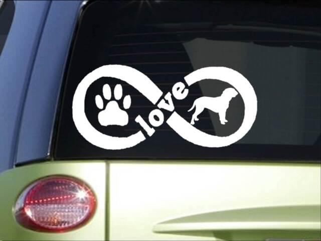 Dogue de Bordeaux Infinity sticker *H383* 4 x 8.5  inch vinyl dog love decal
