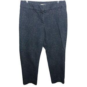 Ann Taylor LOFT Blue Julie The Riviera Pant Ankle Pants Size 10 Polka Dot Paint