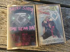 2 LOT Cassette Tape  TWISTED SISTER - Come Out And Play & Stay Hungry