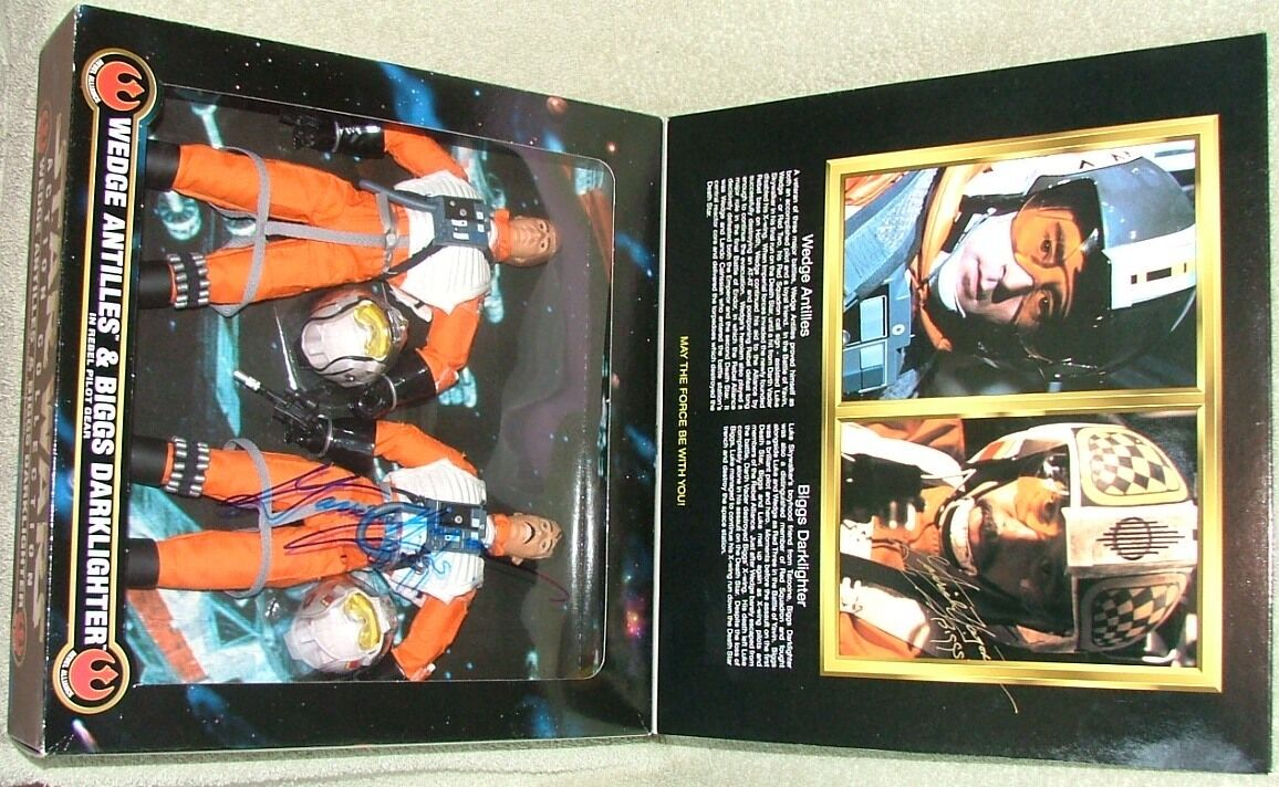Biggs darlighter & Wedge Antilles 12  Figures DGSIM dédicacé