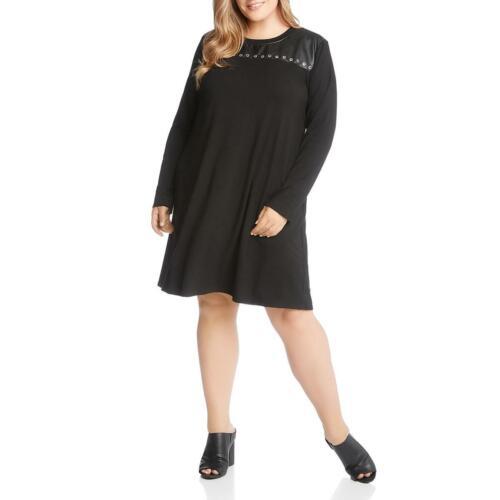 Karen Kane Womens La Vie En Rose Black Grommet Casual Dress Plus 3X BHFO 1694