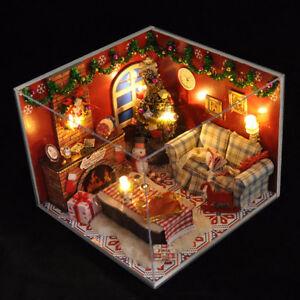 Dollhouse-Miniature-DIY-House-Model-Building-Kit-Wooden-Creative-Room-Xmas-Gift