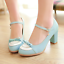 Women-Bowknot-Ankle-Strap-Heels-Retro-Mid-Chunky-Round-Toe-Mary-Jane-Shoe-Lolita thumbnail 5
