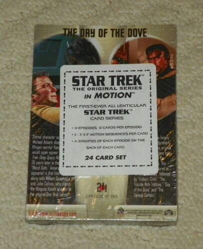 "1999 Rittenhouse STAR TREK IN MOTION 5"" X 7"" 24 Card Set FACTORY SEALED"