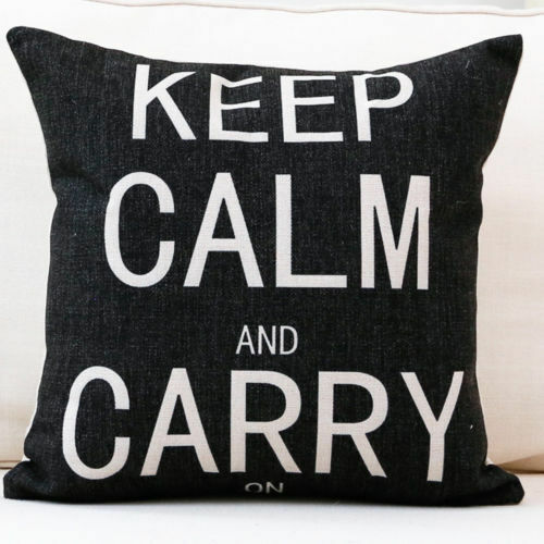 Lin Coton Square Throw Pillow Case Home Décor Sofa Taille Housse de coussin