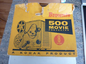 Vintage-1958-Kodak-Brownie-500-8mm-Movie-Portable-Projector-189-w-Original-Box