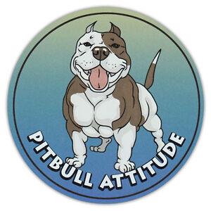 Round Dog Breed Car Magnet Pitbull Attitude Pit Bull Bumper