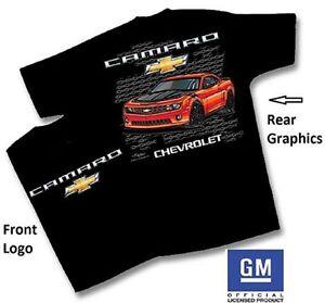 Chevrolet-5th-Generation-Camaro-T-Shirt-Black-Camaro-Tee-Shirt-SS-ZL1-Z28-LT-LS