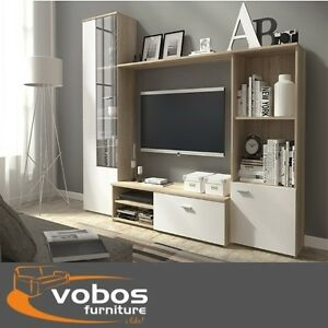 living room furniture set tv wall unit stands cabinet cupboards shelf