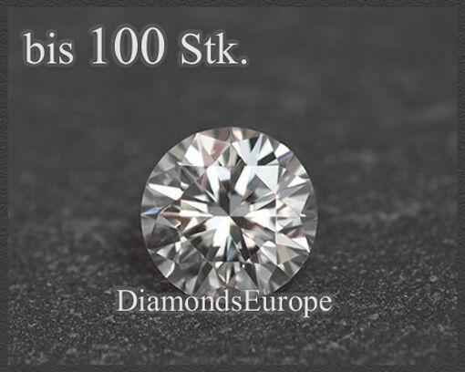 Diamant Brillant River/ Lupenrein/ 1 mm, exzellenter Brillantschliff, natürlich