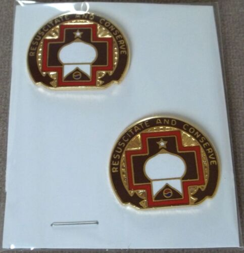 US Army 46th Surgical Hospital Unit Crest Insignia New Pair