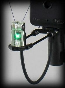 Delkim-ES-Nitelite-Pro-Duo-Carb-Indicator-Set-GREEN-NEW-Carp-Fishing