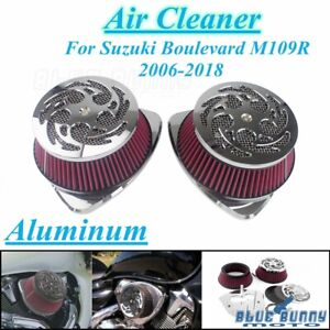 Dual-Intake-Filter-Big-Air-Cleaner-Kit-For-Suzuki-Boulevard-M109R-06-19-VZR1800