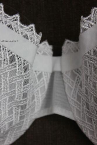 """NWT LA PERLA 906407 /""""Greta/"""" Balconette Underwire Soft Cup Lace Bra White Bridal"""