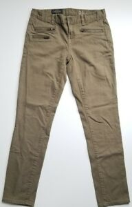 J-Crew-Toothpick-Ankle-Skinny-Jeans-Zippers-Sz-26-2-Olive-Green
