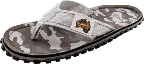 Gumbies Grey Camouflage Herren Zehenstegsandale Flip Flop Sandale Sommerschuhe