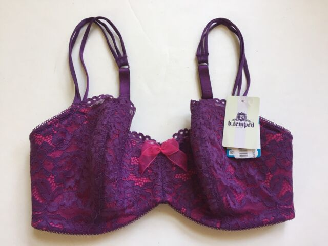 2e054d27a8 b.tempt d by Wacoal 953144 Ciao Bella Balconette Bra 34 C Wineberry ...