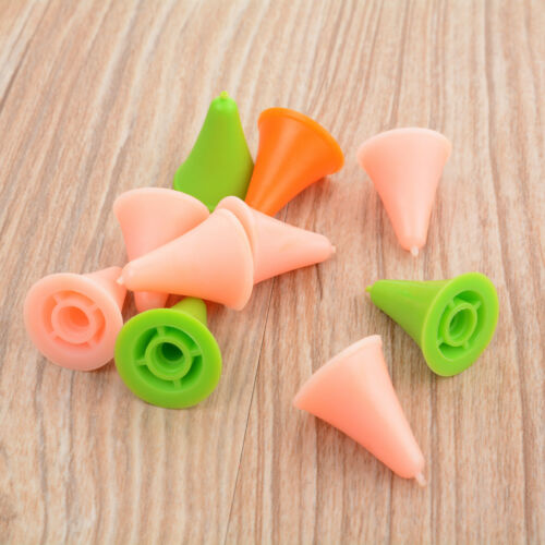 10Pcs Plastic Large Small Size Point Protectors//Stoppers for Knitting Needle