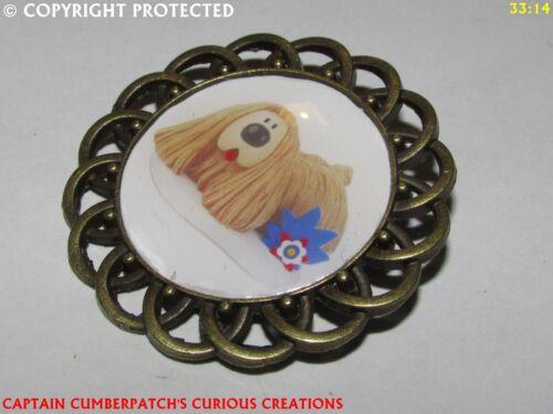 Steampunk broche insignia con Pin DIBUJOS ANIMADOS Dougal Magic Roundabout Childrens show #CS31