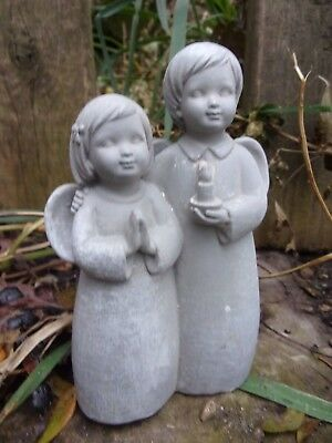 Angel with children stepping stone mold plaster concrete mould