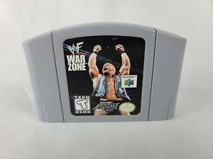 WWF zona de guerra-Nintendo 64 N64 auténtico de juego probadas Piedra Fría Steve Austin