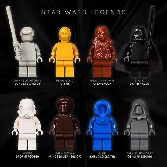 LEGO  SET OF 8 STAR WARS LEGENDS MONOFIGS