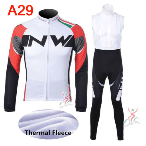2019 Winter cycling Jersey sets thermal fleece long sleeve bicycle clothing P41