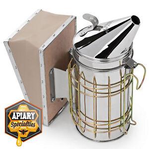 Bee-Hive-Smoker-Stainless-Steel-with-Heat-Shield-Calming-Beekeeping-Equipment