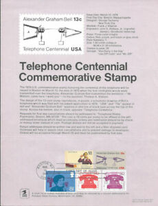 1683-13c-Telephone-Centennial-Postage-Stamp-Poster-Unofficial-Souv-Pg-Fd-on-5