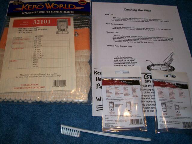 Dyna Glo Glow RMC 95 C Series KEROSENE HEATER Wick /& Igniter TUNE-UP KIT B2