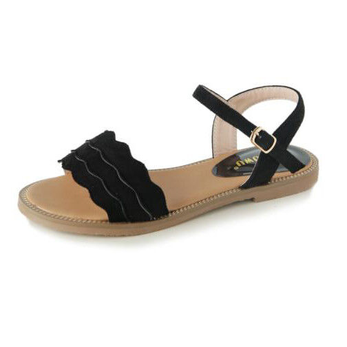 Sandali eleganti bassi  ciabatte noir leggeri comodi simil pelle  9952