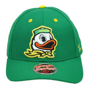 NCAA-Zephyr-Oregon-Ducks-Hombres-Verde-Elaborado-Curvo-Bill-Gorro-Ajustable