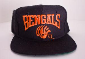 e22fbc20 VTG Cincinnati Bengals Black New Era Snapback Hat USA 80's 90's NFL ...