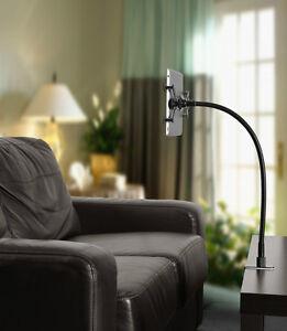 universal bett tisch halterung f apple ipad samsung tablet schwarz 85 cm ebay. Black Bedroom Furniture Sets. Home Design Ideas