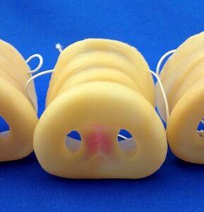 Lot-of-3-Rubber-Pig-Noses-Hog-Porky-Snout-Piglet-nose-mask-BARBEQUE-BBQ-piggie
