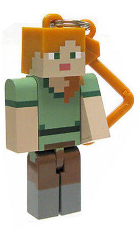 Minecraft Serie 2 Alex 3D Keyring Llavero Bolso Perchas Mine Craft Figuras de juguete
