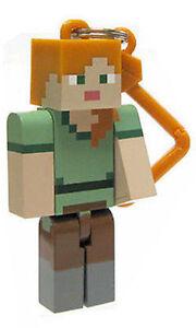 Minecraft-Serie-2-Alex-3D-Keyring-Llavero-Bolso-Perchas-Mine-Craft-Figuras-de-juguete