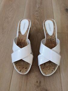 Sandals-White-Wedge-Size-UK-6