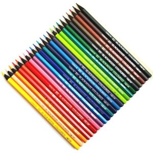 24 Colouring Coloured Pencils in blackwood. Excellent quality. Art Artist Craft