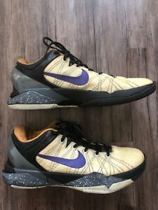 "de71df578f53 Nike Zoom Kobe VII 7 System ""Opening Day"" Lakers Purple Gold 488371 ..."