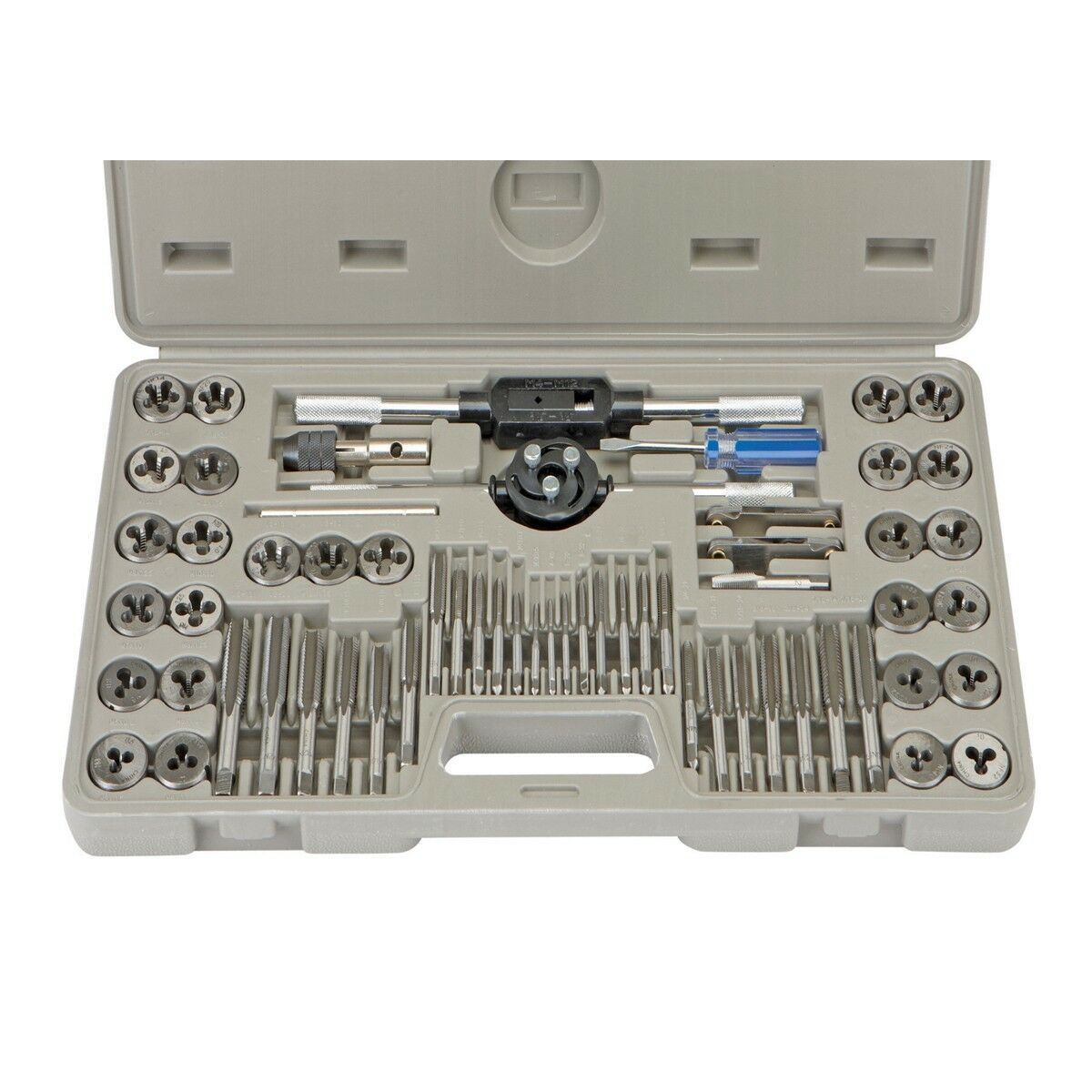Pittsburgh 60 Pieces SAE And Metric Tap and Die Set Mixed Tap Sets Tools New