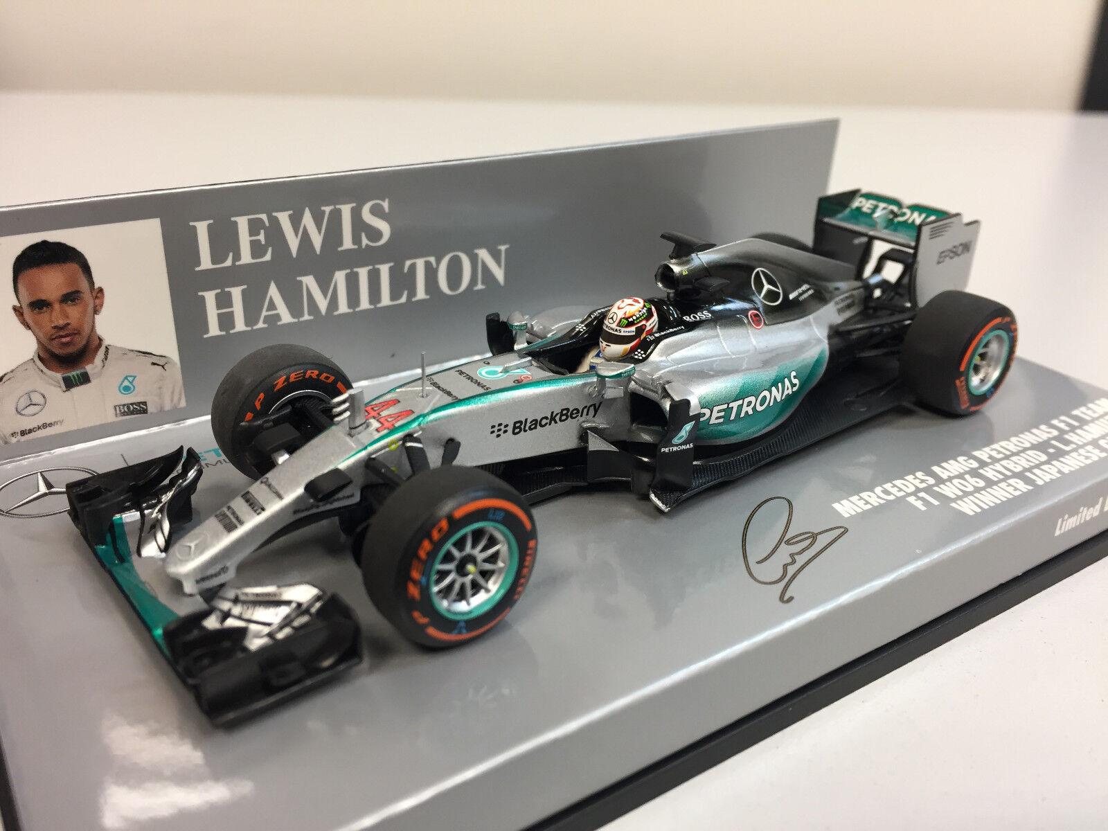 Minichamps F1 WC Mercedes AMG Petronas F1 W06 L. Hamilton 2015 1 43 410150344