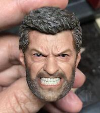 Eleven 1/6 Scale Logan Head Sculpt for Hot Toys Wolverine Figure Body
