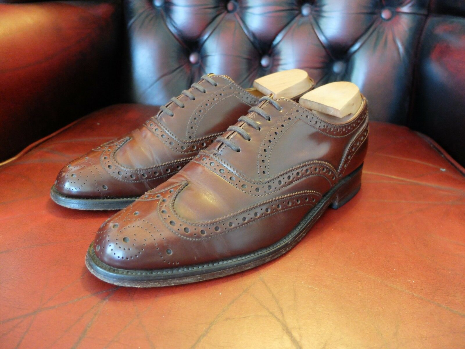 Loake Shoemakers Marroni Scarpe 6 ALL'INGLESE OXFORD CALATA Taglia 6 Scarpe (UK) e10853