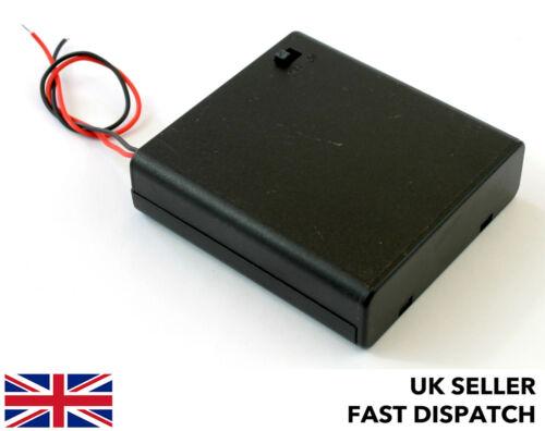 Batterie Box//Titulaire//Case//pack pour 4xAA 6 V DC Jr//JST//Futaba//DC Socket//Croc Clips