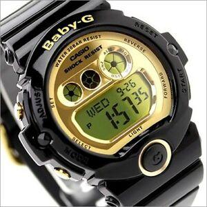 c0ed991f6e07 Casio Baby-G Womens Watch BG6901-1 BG-6901-1DR Digital Black Gold ...