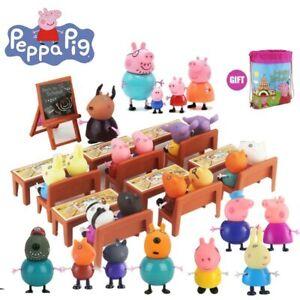 Peppa-Pig-Action-Figure-George-School-Desk-Friends-Piggy-Teacher-Classroom-Game